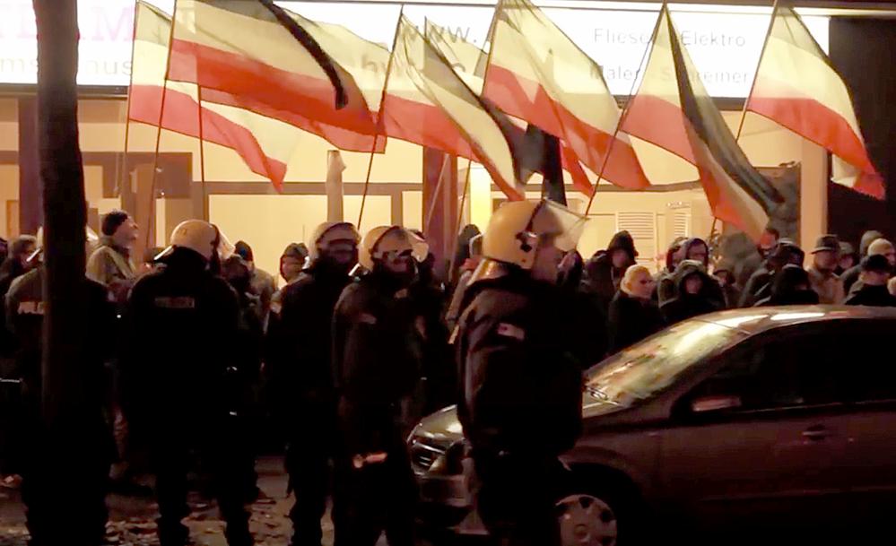 Am 21. Dezember 2014 fand die Demo in der Nordstadt statt - erst jetzt startet die Berufunbgsverhandlung vor dem Landgericht. (Video-Screenshot)