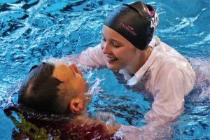 Schwierige Voraussetzungen derzeit für DLGR-Schwimmer*innen, um durch Training im Wasser fit zu bleiben. Foto (2): DLRG Dortmund