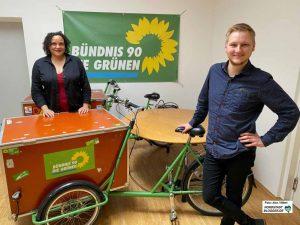 Die Kreissprecher*innen Katja Bender und Julia Jansen freuen sich über viele Neumitglieder und ihre Ideen. Foto: Alex Völkel