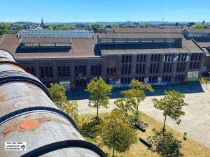 """Das """"Schalthaus 101"""" könnte zur temporären Spielstätte für """"Ruhrhochdeutsch"""" werden. Foto: Alex Völkel"""