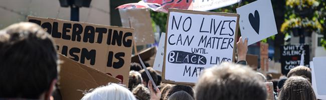 """""""Black Lives Matter"""" Kundgebung am Samstag – Montag transatlantischer Dialog """"United against Racism"""""""