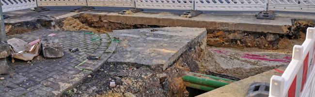 Netzausbau in Dortmund: Bauarbeiter stoßen auf gefährliche Altlasten im Boden unter der Kieferstraße in Hombruch