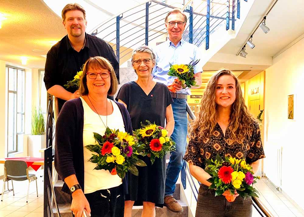 Vlnr: Michael Kötzing, Dagmar Bremer, Annette Giese, Michael Bürger und Alwine Wraase.