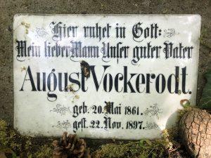 Grabmal August Vockerodt, Detail, aktueller Zustand