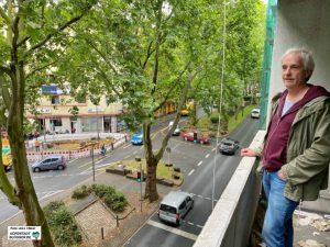 Grünbau-Geschäftsführer Andreas Koch hat das Quartier am Nordmarkt im Blick. Fotos: Alex Völkel