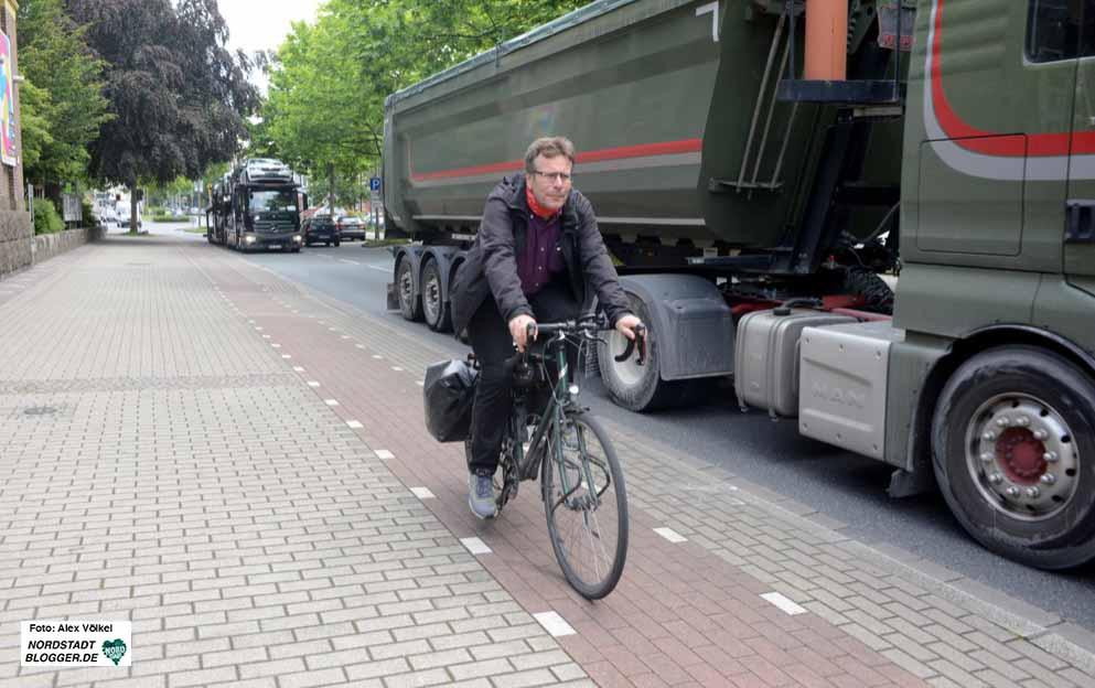 Radverkehr in der Nordstadt ist zumeist nicht sicher. Das treibt Thomas Oppermann um.