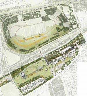 Die Zukunftsgärten Emscher Nordwärts zur IGA 2027 - so stellt sich der Siegerentwurf die Kokerei Hansa vor.