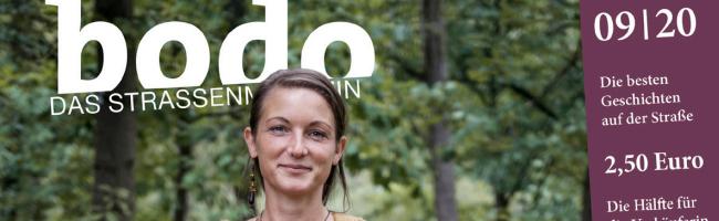 """bodo – das Straßenmagazin im September: Verabredung zum """"Waldbaden"""" mit einer Heilpädagogin und vieles mehr"""