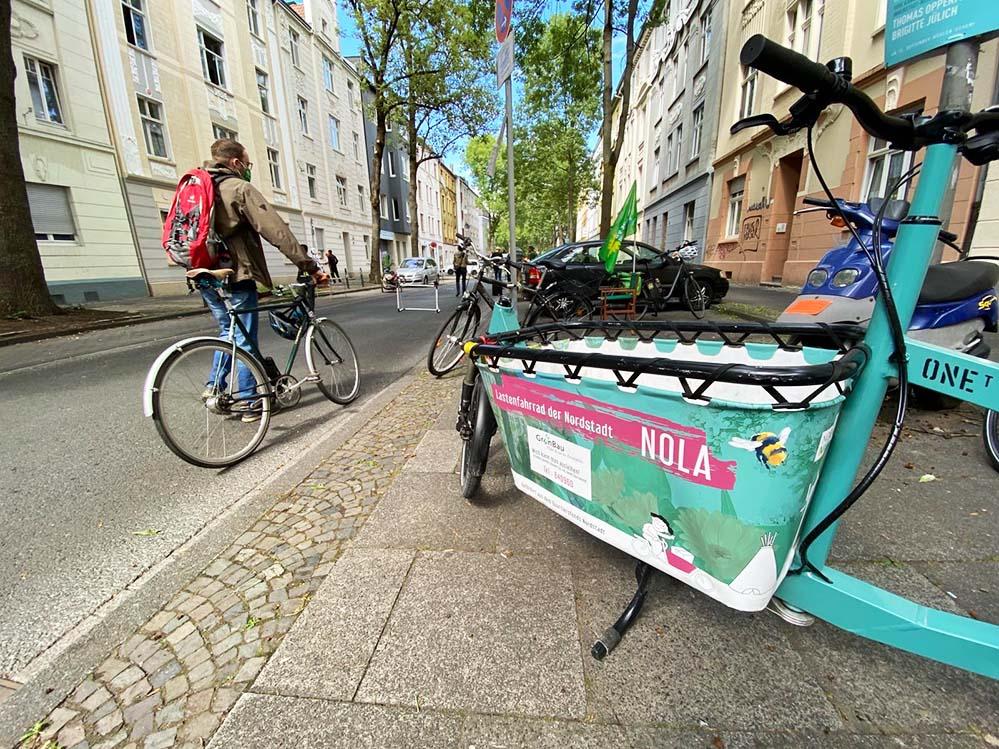 Die NOLA Lastenräder: Freie Bahn für nicht-motorisierte Verkehrsteilnehmer*innen: die Spielstraße in der Braunschweiger Straße.