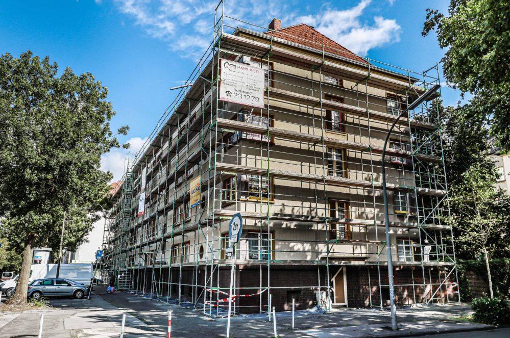 Die DOGEWO hat eine umfangreiche Instandhaltungsmaßnahme für 48 Häuser in der Nordstadt begonnen.