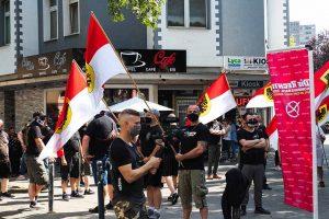 Zu einer nicht angekündigten Demo in der und durch die Nordstadt gab es am 1. August. Foto: David Peters