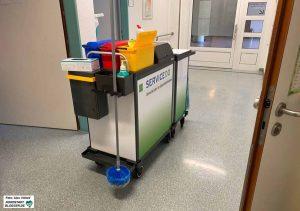 """""""ServiceDO"""" ist die Gesellschaft des Klinikums, in der u.a. das Reinigungspersonal geführt wird. Foto: Alex Völkel"""