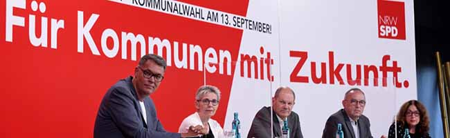 Halb PR, halb Inhalt: Olaf Scholz und Norbert Walter-Borjans bei einer SPD-Podiumsdiskussion im Dortmunder U