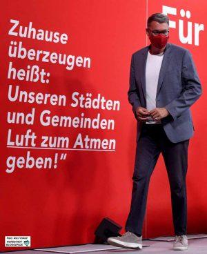 Dortmunds Wirtschaftsförderer und SPD-OB-Kandidat Thomas Westphal genoss die große Bühne.