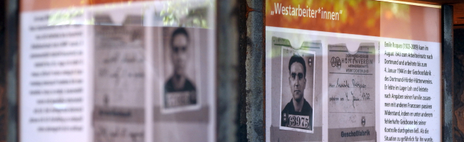 Leiden, (In-)Humanität, Widerstand im Dortmund des NS – da ist ein Gesicht: am Hörder Mahnmal für Zwangsarbeiter*innen