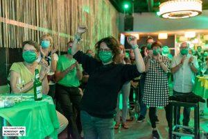 Am Wahlabend feierten die Grünen ihre Zugewinne - aber für den OB-Posten reichte es nicht. Foto: Leopold Achilles