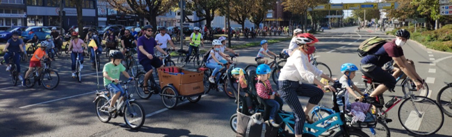 """Dortmund für Menschen statt für Autos: Kinder erobern mit der """"Kidical Mass""""-Fahrraddemo ihre Stadt zurück"""