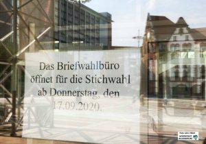 Das Briefwahlbüro für die Stichwahl ist bereits ab Donnerstag geöffnet. Foto: Alex Völkel