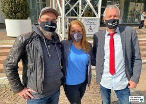 """Olaf Schlösser, Katharina Diwisch und Stefan Dondrup wurden für die Partei """"Die Partei"""" in den Rat gewählt."""