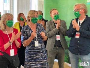 Landesweit hatten die Grünen gut lachen - sie legten massiv zu. Foto: Alex Völkel