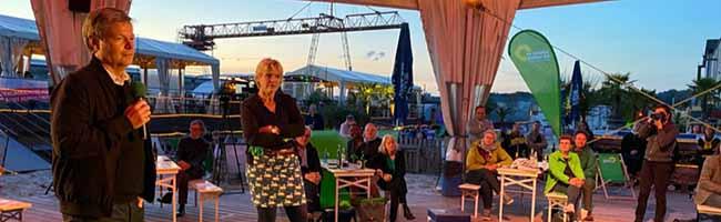 Habeck im Hafen: Lässiger Wahlkampf der Dortmunder Grünen an der Strandbar in der Nordstadt