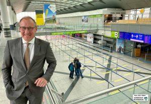 Der Flughafen-Chef Ludger van Bebber. Foto: Alex Völkel