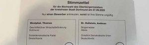 105.000 Dortmunder*innen hatten Briefwahl beantragt. Nun wurden die Stimmzettel für die Stichwahl verschickt. Foto: Alex Völkel