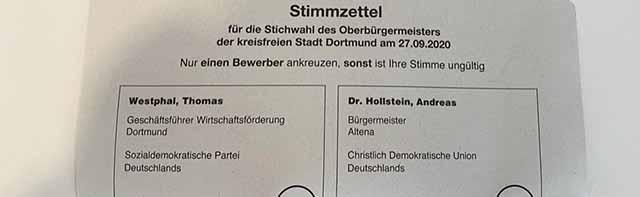 Verzögerungen bei der Auslieferung der Briefwahlunterlagen – Stadt Dortmund droht dem Dienstleister mit Konsequenzen