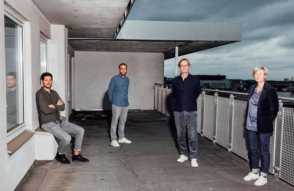 Das Team von DORTMUND KREATIV (v.l.): Jan Wittkamp, Christian Weyers, Marc Röbbecke, Reinhild Kuhn. Foto: Max Slobodda