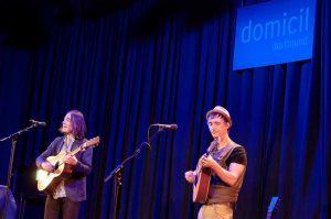 Für die Musiker, Andie Cadie und Mark Bloomer war es der erste Auftritt nach sechs Monaten Zwangspause.