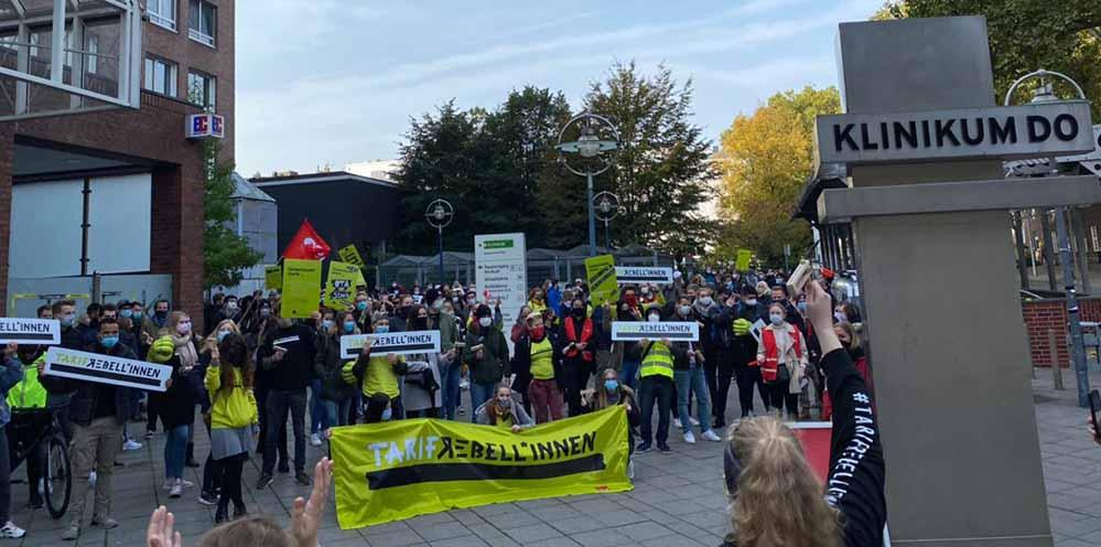 Auch im Bezirk Westfalen haben sich Auszubildende, Praktikant*innen und Dual-Studierende am bundesweiten Streiktag im öffentlichen Dienst beteiligt.