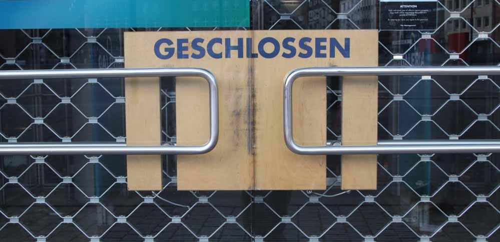 Die IHK befürchtet weitere Geschäftsschließungen und Aufgaben wegen des Corona-Lockdowns. Foto: Karsten Wickern