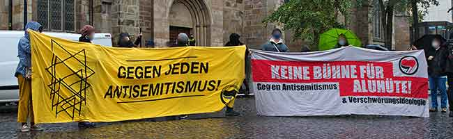 Ein Jahr nach dem Anschlag von Halle: Kundgebung gegen Antisemitismus in der Dortmunder Innenstadt