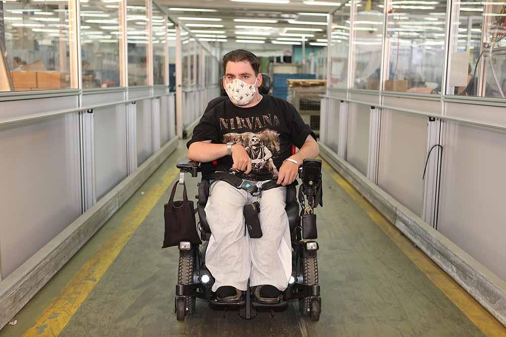 Seit dem 21. September sind Werkstätten für Menschen mit Behinderung wieder zum Vollbetrieb verpflichtet – unter Berücksichtigung der Abstands- und Hygienemaßnahmen. Foto: Christof Becker