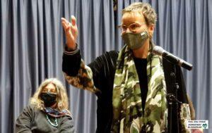 Organisatorin Ricarda Erdmann von den AWO-Migrationsdiensten.