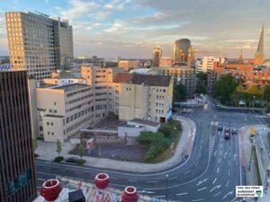 Zwischen HCC und Dortmunder U soll auf dem Restgrundstück an der Brinkhoffstraße der VHS-Neubau entstehen. Foto: Alex Völkel