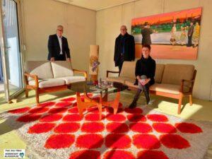 Isolde Parussel (Leiterin des Hoesch-Museums), Wolfgang E. Weick (li.) und Dr. Karl Lauschke (Vorstand der Freunde des Hoesch-Museums) hoffen auf die Realisierung.