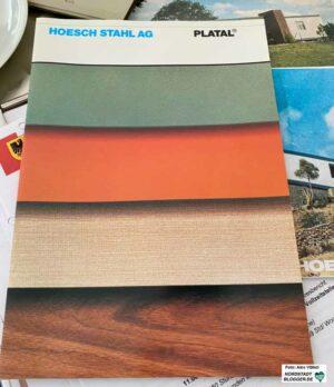 Farbkatalog - die Käufer mussten sich im Vorfeld die abwaschbare Beschichtung für alle Räume aussuchen.