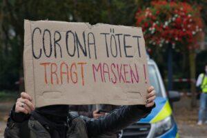 Vereinzelt gab es Gegenproteste.