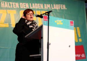 Die stellvertretende ver.di-Vorsitzende Christine Behle