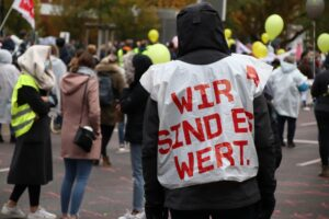 Warnstreik von ver.di im öffentlichen Dienst. Foto: Karsten Wickern