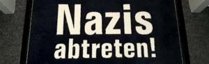 """""""Die Fraktion"""" ist begeistert, dass sich die AfD von ihrer """"Anti-Nazi""""-Fußmatte angesprochen fühlt."""
