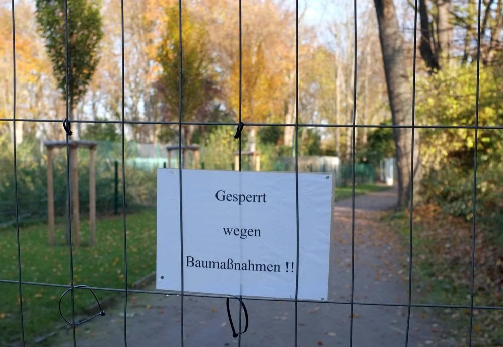 Bauarbeiten im Hoeschpark. Foto: Susanne Schulte
