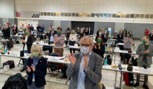 Freundlichen Applaus gab es für den neuen Oberbürgermeister Thomas Westphal.