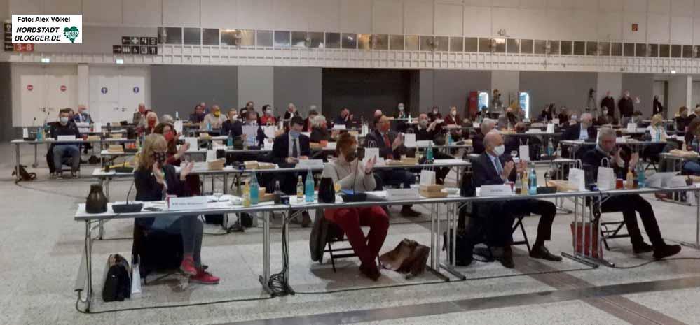 Ratssitzung in Dortmund - in Zeiten von Rathausumbau und Corona-Pandemie. Foto: Alex Völkel
