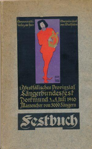 Festbuch zum 1. Westfälischen Provinzial-Sängerbundesfest, Titel