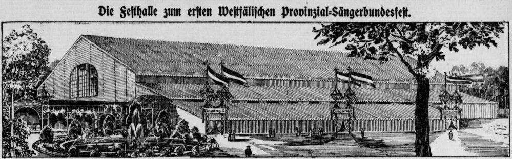 Vorstellung des Festzeltes in der Dortmunder Zeitung (02.07.1910)