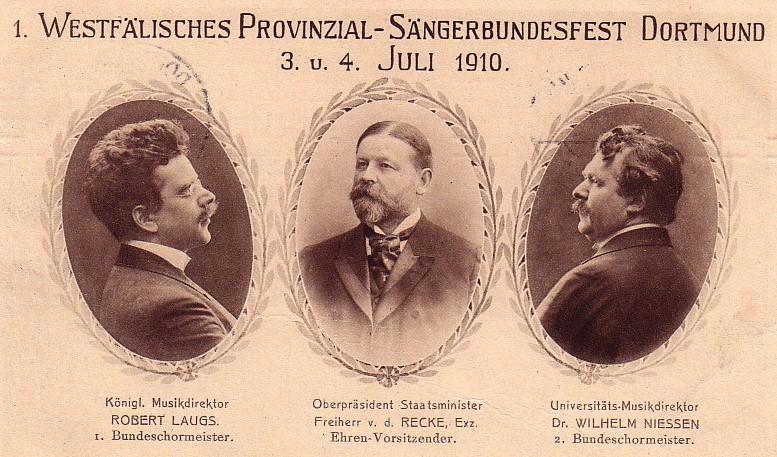 Offizielle des Westfälischen Provinzial-Sängerbundes (Sammlung Klaus Winter)