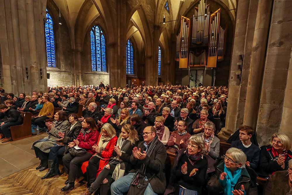 Eine volle Kirche wie beim Weihnachtsoratorium in der Reinoldikirche wird es dieses Jahr nicht geben.  Foto: Stephan Schuetze