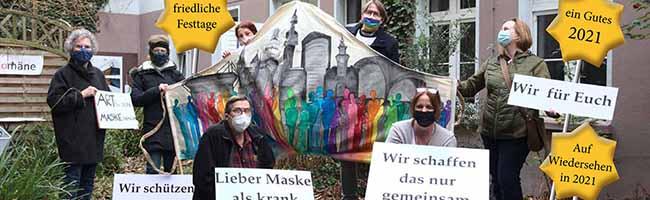 """Kunst- und Spendenaktion gegen sogenannte Querdenker zum Jahreswechsel: """"ARTig sein – MASKE tragen"""""""